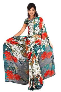 Chhavi Georgette Printed Casual Saree Sari Bellydance fabric