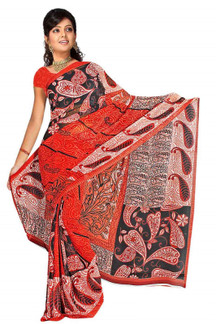 Chintanika Georgette Printed Casual Saree Sari Bellydance fabric