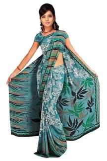 Drishti Georgette Printed Casual Saree Sari Bellydance fabric