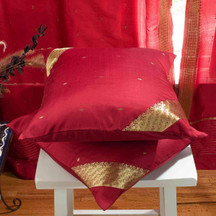Maroon-Decorative handcrafted Cushion Cover Throw Pillow case Euro Sham-6 Sizes