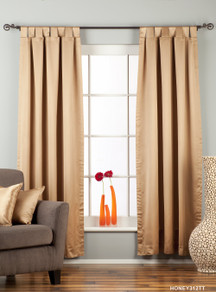 "Taupe Tab Top 90% blackout Curtain / Drape / Panel - 50X84"" - Piece"