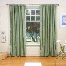 Olive Green Rod Pocket  Velvet Curtain / Drape / Panel  - Piece