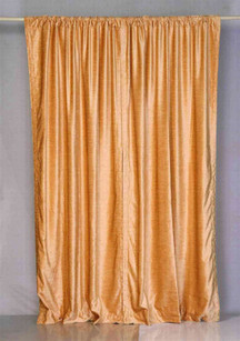 Peach Rod Pocket  Velvet Curtain / Drape / Panel  - Piece