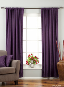 Purple Rod Pocket  Velvet Curtain / Drape / Panel  - Piece