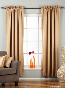 Taupe Rod Pocket 90% blackout Curtain / Drape / Panel  - Piece
