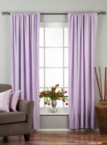 Lavender Rod Pocket  Velvet Curtain / Drape / Panel  - Piece