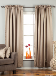 Brownish Gray Rod Pocket 90% blackout Curtain / Drape / Panel  - Piece