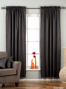 Black Rod Pocket 90% blackout Curtain / Drape / Panel  - Piece