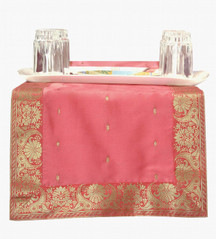Pink - Hand Crafted Table Runner (India)
