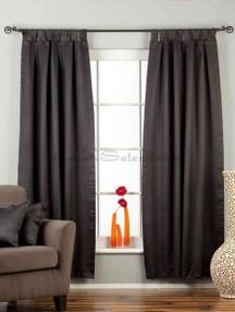 "Black Tab Top 90% blackout Curtain / Drape / Panel - 50X84"" - Piece"