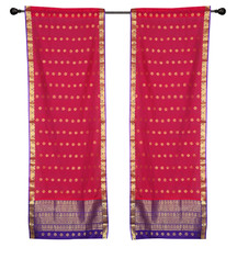 2 Bohemian Indian Sari Curtains Rod Pocket Living Room Decor Window Treatment