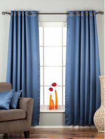 Blue Ring / Grommet Top 90% blackout Curtain / Drape / Panel  - Piece