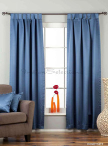 "Blue Tab Top 90% blackout Curtain / Drape / Panel - 50X84"" - Piece"