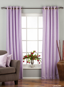 Lavender Ring / Grommet Top  Velvet Curtain / Drape / Panel  - Piece