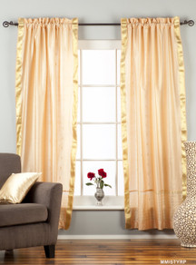 Misty Rose  Rod Pocket  Sheer Sari Curtain / Drape / Panel  - Pair