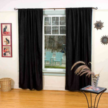 Velvet Blackout Home Theater Curtain Panel, , Black