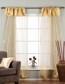 "Golden Rod Pocket Sheer Tissue Curtain / Drape / Panel - 84"" - Piece"