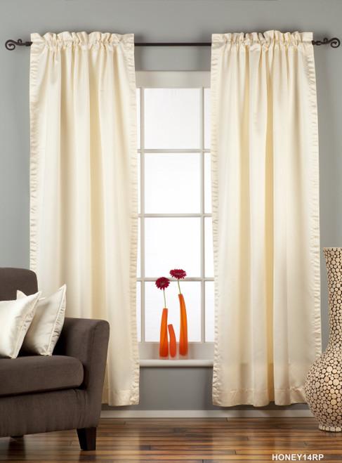 Cream Rod Pocket 90% blackout Curtain / Drape / Panel  - Piece