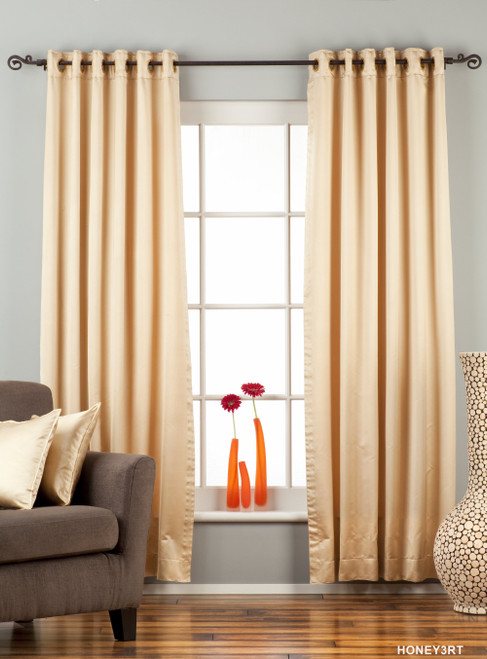 Golden Ring / Grommet Top 90% blackout Curtain / Drape / Panel  - Piece
