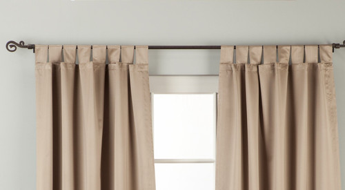 "Brownish Gray Tab Top 90% blackout Curtain / Drape / Panel - 50X84"" - Piece"