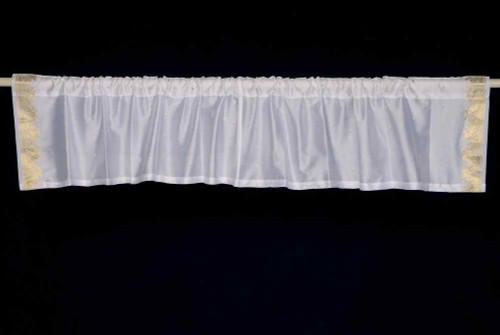 White Gold - Rod Pocket Top It Off handmade Sari Valance - Pair