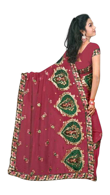 Deepshika  Georgette Indian Sari saree with Embroidery