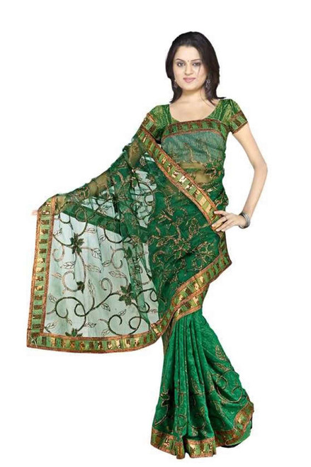 Charulata  Georgette Indian Sari saree with Embroidery