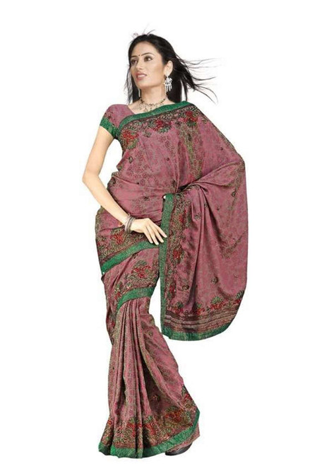 Bhavani  Georgette Indian Sari saree with Embroidery