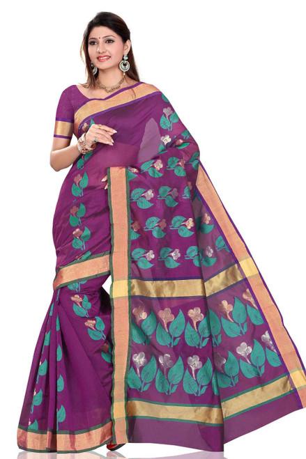 Purple evening saree sari Bellydance fabric indian Wrap