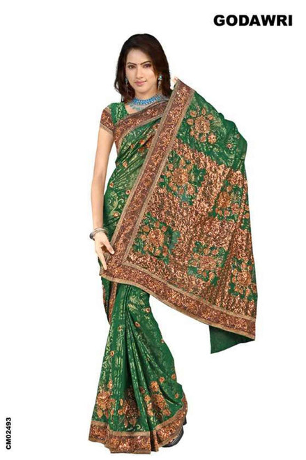 Bhanumati  Georgette Indian Sari saree with Embroidery