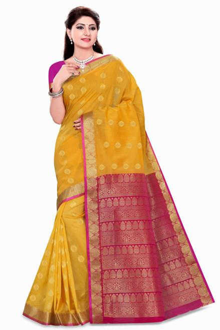 Neha Yellow Art Silk Sari Saree Bellydance Wrap