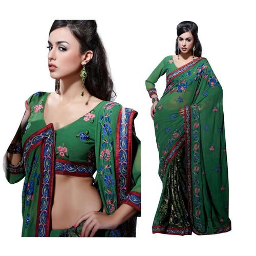 Aishwarya Bollywood faux Georgette Designer Party Wear Sari saree