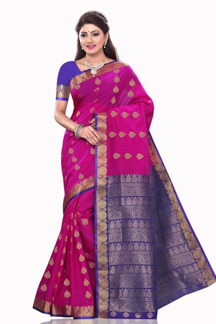 Madhu Violet Art Silk Sari Saree Bellydance Wrap