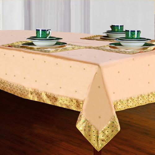 Golden - Handmade Sari Tablecloth (India)