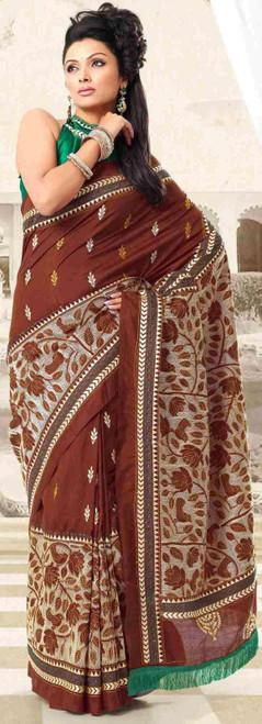 Durga festival Diwali Party Wear Sari Sari - India