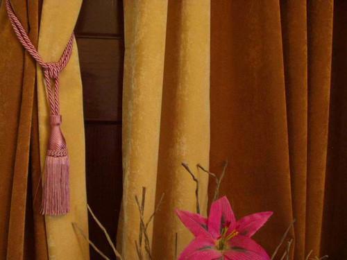 Peach  handmade Curtain Tieback / Tiebacks / Tassel - Pair