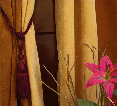 Maroon handmade Curtain Tieback / Tiebacks / Tassel - Pair