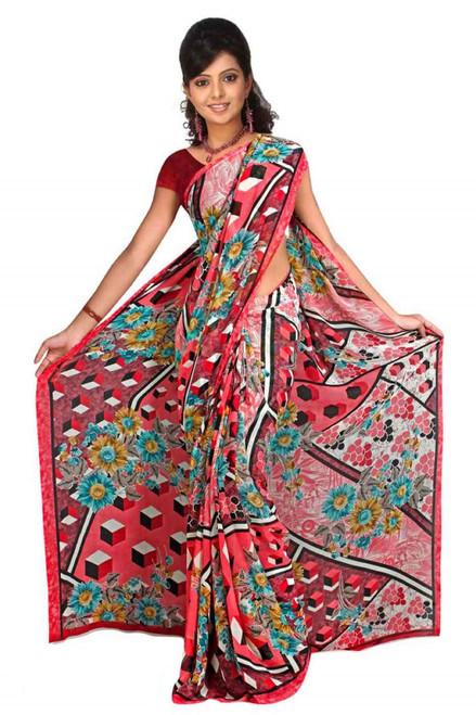 Avni Georgette Printed Casual Saree Sari Bellydance fabric