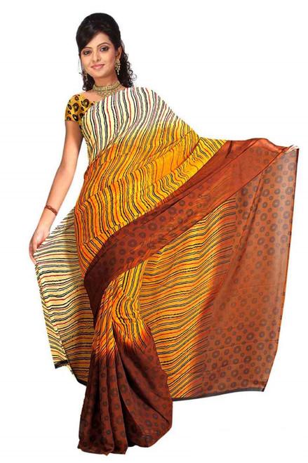 Banni Georgette Printed Casual Saree Sari Bellydance fabric