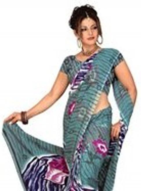 Bimala Georgette Printed Casual Saree Sari Bellydance fabric