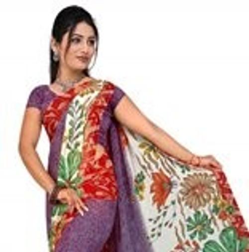Bhavi Georgette Printed Casual Saree Sari Bellydance fabric
