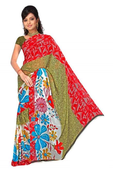 Bhavini Georgette Printed Casual Saree Sari Bellydance fabric