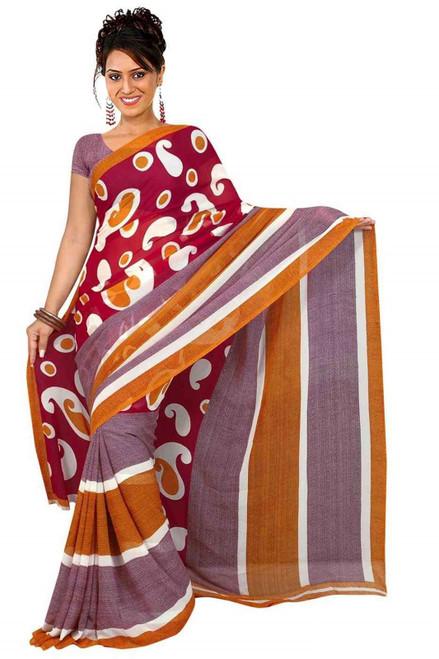 Bhagyashri Georgette Printed Casual Saree Sari Bellydance fabric