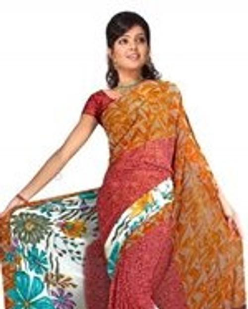 Bhavna Georgette Printed Casual Saree Sari Bellydance fabric