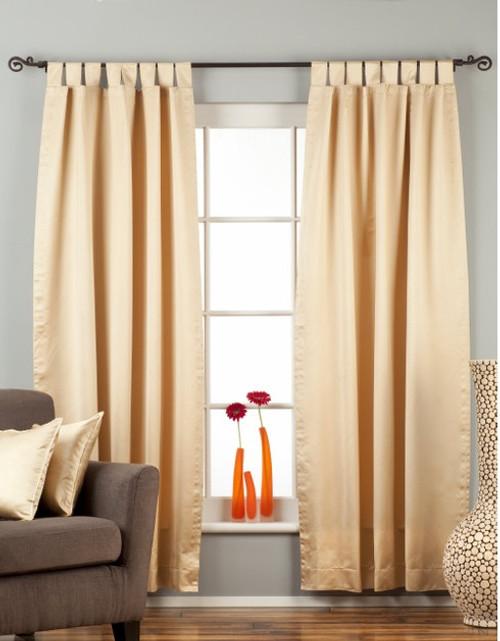 Golden Tab Top 90% blackout Curtain / Drape / Panel  - Piece