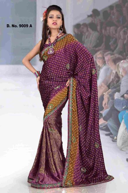 Akshata Fancy festival wear designer Georgette Sari  with sequin design