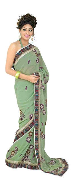 Bhagwanti Fancy festival wear designer Georgette Sari  saree