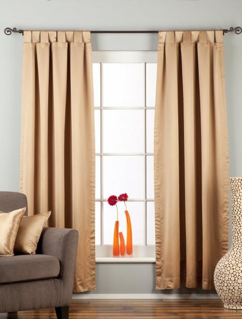 Taupe Tab Top 90% blackout Curtain / Drape / Panel  - Piece