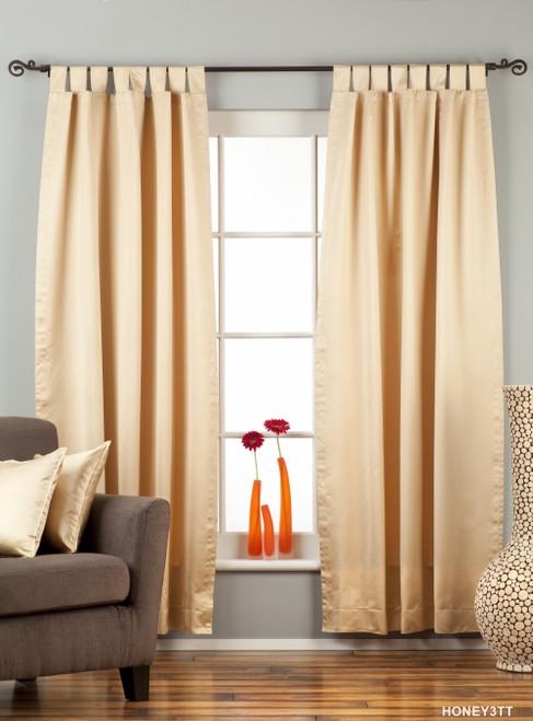 "Golden Tab Top 90% blackout Curtain / Drape / Panel - 50X84"" - Piece"