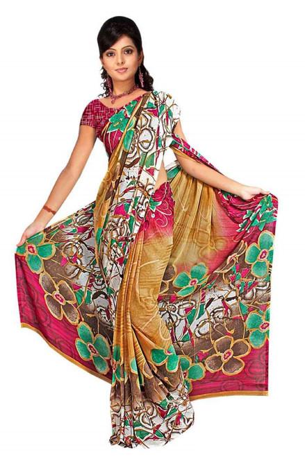 Dheeptha Georgette Printed Casual Saree Sari Bellydance fabric